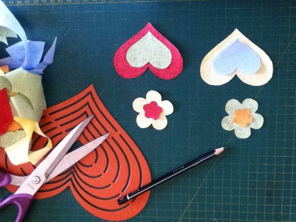 Gabaritos, tesoura, tecidos e idéias.